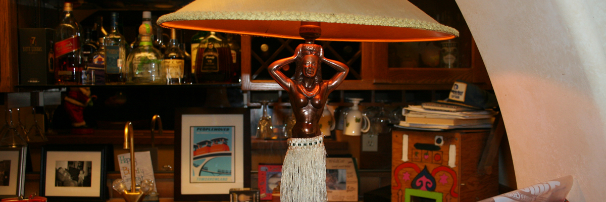 Antique Dodge Hula Girl Lamp