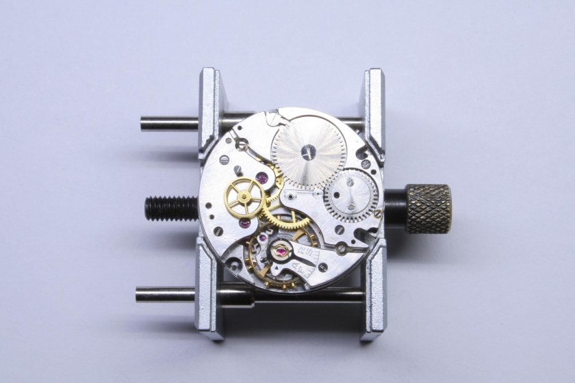 Base movement of the Movado 95M chronograph