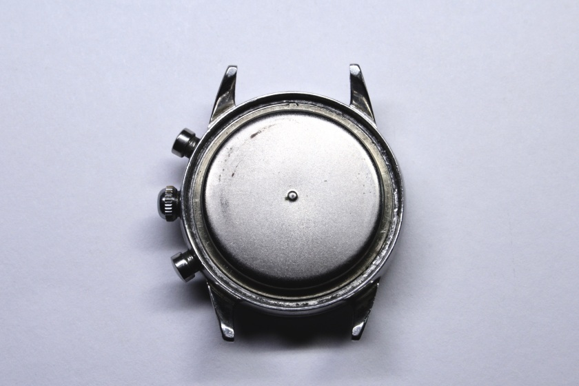 Movado Sub Sea chronograph with case back removed
