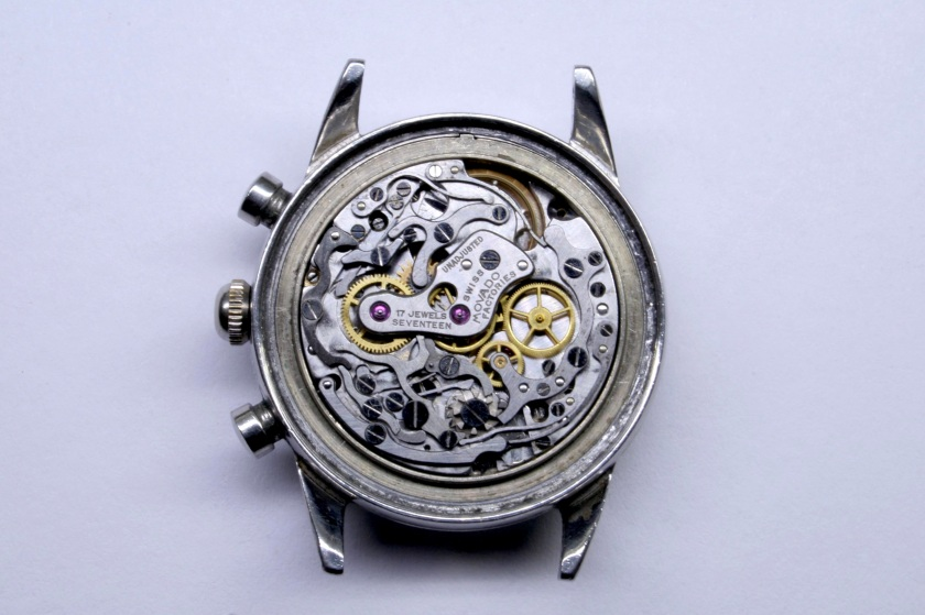 Movement of Movado Sub Sea chronograph