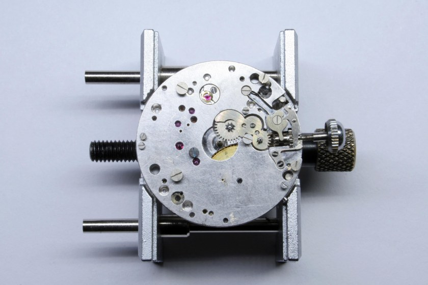 Dial side of the 95M movement, the hour recorder is not present