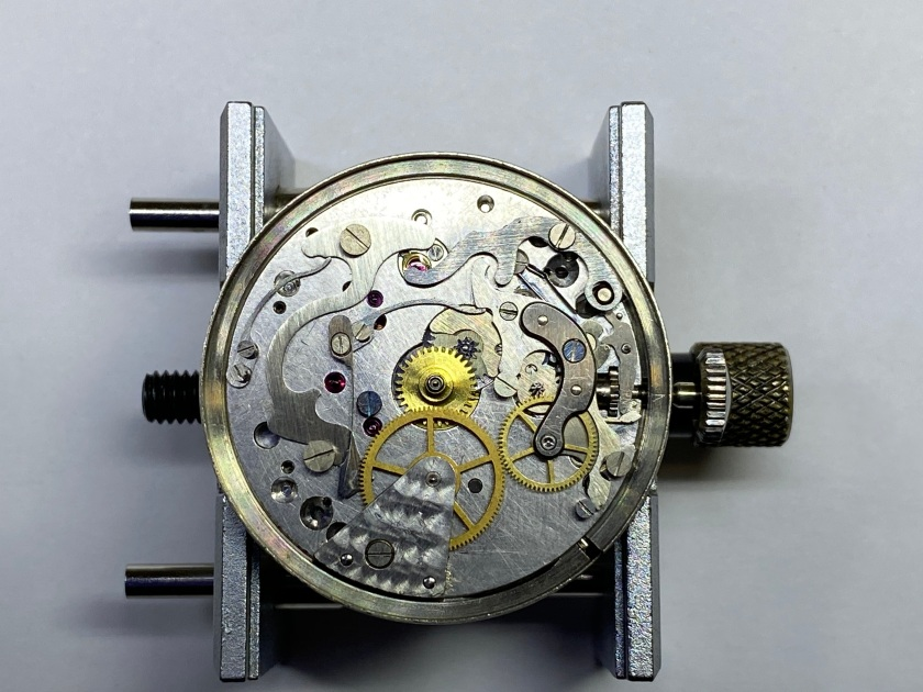 Dial side of the 95M movement fully assembled
